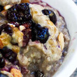 Slow Cooker Blueberry Almond Oatmeal