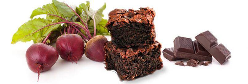 Dark Chocolate Cherry Beet Brownies